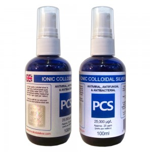 2 x Premium Colloidal Silver 25ppm - 100ml Atomiser Sprays [2 For 1 Deal]