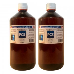 2 x Premium Colloidal Silver 25ppm - 1 Litre [2 For 1 Deal]