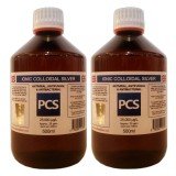 2 x Premium Colloidal Silver 25ppm - 500ml GLASS Bottles [2 For 1 Deal]