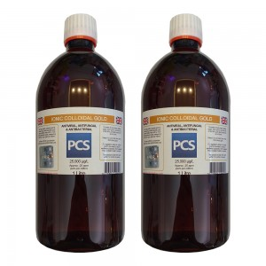 2 x Premium Colloidal Gold 25ppm - 1 Litre [2 For 1 Deal]