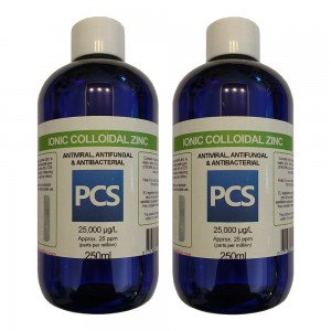 2 x Premium Colloidal Zinc 25ppm - 250ml [2 For 1 Deal]