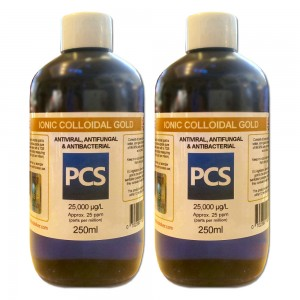 2 x Premium Colloidal Gold 25ppm - 250ml [2 For 1 Deal]