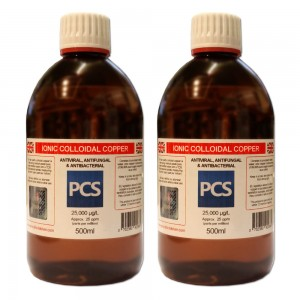 2 x Premium Colloidal Copper 25ppm - 500ml [2 For 1 Deal]