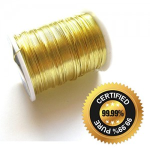 "2 x 99.99% Pure Gold Wire Rods - 6"" Inch @ 0.5mm Thick (For Colloidal Gold)"